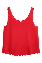 Vest top with scalloped edges - Red - Ladies | H&M 2